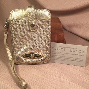 Elliott Lucca NWOT leather phone case/wristlet